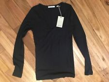 Cotton Blend Long Sleeve Machine Washable Tops for Women