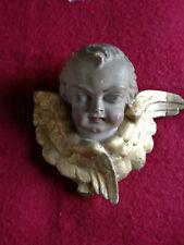 1 Architectural décoré plâtre angelot cherubin aile Face Wall Decor plaque Moulage