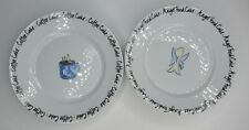 """Strawberry Street  Set of 4 Dessert Plates 8"""".  Two Angel Food, Two Coffee Cake"""