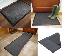 Heavy Duty Non Slip Grey Barrier Mat Rubber Back Door Kitchen Hallway Rugs PVC