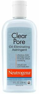 Neutrogena Clear Pore Oil Eliminating Astringent, 8 Ounce - Your Choice