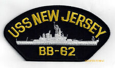 USS NEW JERSEY BB-62 HAT PATCH IOWA CLASS BATTLESHIP BIG J US NAVY WWII NAM WOW