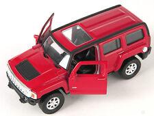 Spedizione LAMPO HUMMER h3/H 3 ROSSO/RED Welly Modello Auto 1:34 NUOVO & OVP 629