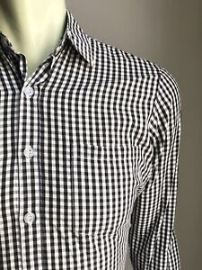 Steven Alan Shirt, B & W Gingham Check, Small, Made in USA, Exc Cond
