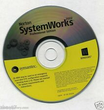 Norton System Works Professional Edition 2004 CD ROM PC