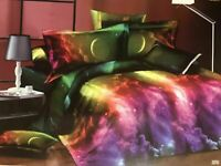 Luxury Duvet Cover Set 3D Effect 4 Piece Complete Bedding Set Quilts Bed Covers