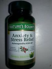 Anxiety & Stress Relief, Ashwagandha KSM-66, 50 Tablets, Exp.12/21, sealed.