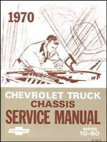 CHEVROLET 1970 SHOP MANUAL SERVICE REPAIR GMC TRUCK BOOK