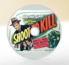 Shoot To Kill (1947) DVD Classic Crime Drama Movie / Film Noir Russell Wade