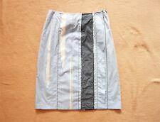 Bottega Veneta blue cotton knee length pencil skirt VGC UK 6