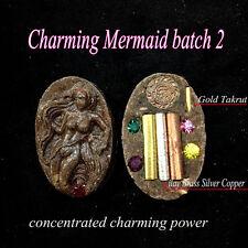 Magic Charming Mermaid batch 2 Gold Takrud Phra Arjarn O Thai Amulet Love Charm