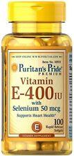 Vitamin E-400 IU with Selenium 50 mcg x 100 Softgels ** AMAZING PRICE **
