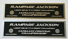 Rampage Jackson UFC nameplate for signed mma gloves photo or case