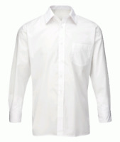Orbit Mens Deluxe Classic Long Sleeved Shirt White Workwear CSH2