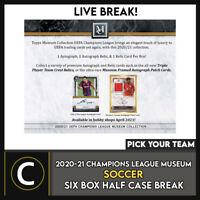 2020/21 TOPPS UEFA CHAMPIONS MUSEUM 6 BOX BREAK #S148 - PICK YOUR TEAM