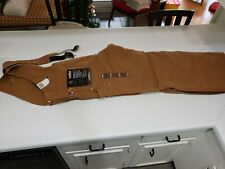 Carhartt Artic Quilt Lined Duck Bib Overalls Brown NWT Size 42x34