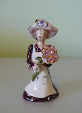 2002 Blue Sky Heather Goldminc Woman Figurine Holding Flowers