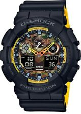 BRAND NEW CASIO G-SHOCK GA100BY-1A ANA-DIGI YELLOW/BLACK CAMO MEN'S WATCH NWT!!!