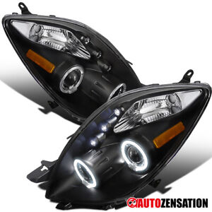 For 2006-2008 Toyota Yaris 3Dr LED DRL Halo Rims Projector Headlights Lamps 2007