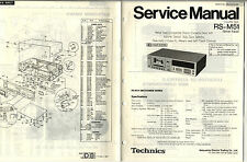 TECHNICS - RS-M51  SERVICE MANUAL   ( ORIGINAL  )