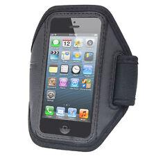 NERO Sport Bracciale Cinturino Pouch Case Cover per Apple iPhone 5 5G Esercizio Palestra