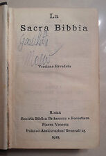 LA SACRA BIBBIA SOCIETA' BIBLICA BRITANNICA E FORESTIERA 1925