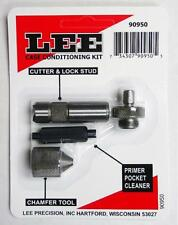 LEE 90950 Lee Case Conditioning Kit Case Cutter, Lock Stud,Chamfer & Primer