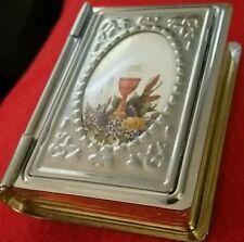 SILVER GOLD EUCHARIST CHALICE BIBLE JESUS HOLY COMMUNION HOST PYX CATHOLIC BOX