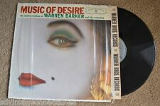 MUSIC OF DESIRE Warren Barker Exotic shrink wrap mono RECORD LP NM