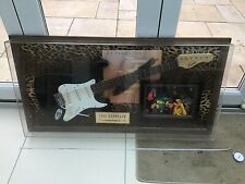 More details for large vintage retro led zeppelin guitar display with record sleeve and photo