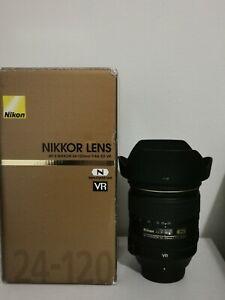 Nikon 24-120mm f4 G ED VR Lens  - Excellent condition
