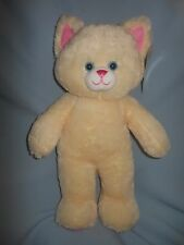 Build A Bear Classic Kitty Kitten Cat Cream Pink NWT 16""