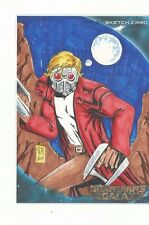 Oversized Guardians of the Galaxy Movie JUMBO Sketch card 5x7 STAR LORD J.D HILL