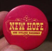 Vintage New Hope & Ivyland Railroad in Pennsylvania Train Railway Pinbacks Used