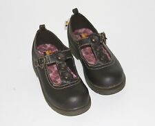 Healthtex Mary Janes Brown Toddler Girl 11 Slip-On Faux Buckle Soft Close Shoes