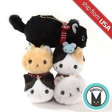 Genuine Amuse Tsuchineko Mofu Mofu Cat Plush Collection Ball Chain Mascot Cute