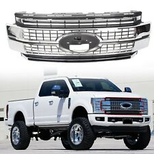 Fits 2017-2019 Super Duty F-250 F-350 F-450 Ford Bumper Chrome Grille Grill