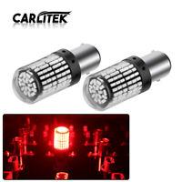 2x 1157 P21W BAY15D LED Red Canbus 3014 144SMD Error Free Car Brake Light Bulb