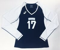 Asics Highland Rams Long Sleeve Volleyball Jersey Women's M Navy White S052A119