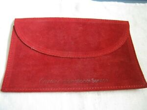 """6"""" x 4"""" Red Suede w/ Sateen Lining CARTIER INTERNATIONAL SERVICE Pouch for Watch"""