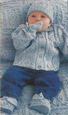 BB041 KNITTING PATTERN BABY BLANKET JACKET HAT MITTENS IN DK YARN 6 -18 MONTHS