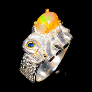 Opal Ring Silver 925 Sterling One Of a kind Jewelry Size 7.5 /R140031