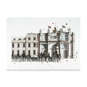 A3 Art Print of Woolwich Barracks Hand Sketched Military Royal Artillery