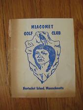 vintage Miacomet Golf Club SCORE CARD Nantucket Island MA massachusetts 1960's