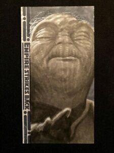 STAR WARS SKETCH CARD 2010 EMPIRE STRIKES BACK 30TH JEN JENNIFER MERCER YODA !
