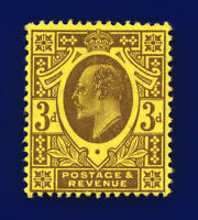 1911 SG285 3d Dull Reddish Purple/Lemon M22(4) MMH Cat £50 cntu