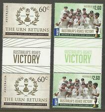 AUSTRALIA 2014 ASHES VICTORY THE URN RETURNS SERIES 5-0 GUTTER PAIRS MUH (No 3)