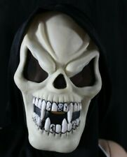 Easter Unlimited Halloween Scream Mask with Hood Skeleton Teeth Glows