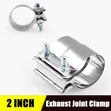 "Stainless Steel 2"" Exhaust Sleeve Joint Exhaust Band Clamp"