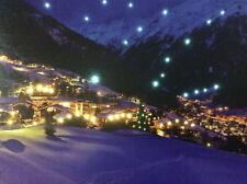 LED Wandbild mit Beleuchtung Bergdorf Winterstimmung Leuchtbild 40 x 30 cm